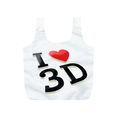 I Love 3d By Divad Brown   Full Print Recycle Bag (s)   Jrut8wl9cw98   Www Artscow Com Front