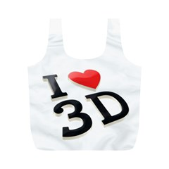 I Love 3d By Divad Brown   Full Print Recycle Bag (m)   3w3o8ve3oe9l   Www Artscow Com Front