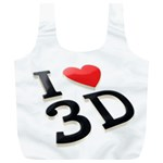 I love 3D - Full Print Recycle Bag (XL)