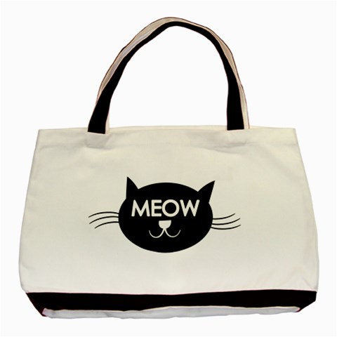 Meow Cat By Divad Brown   Basic Tote Bag   6wa74vfyzvfd   Www Artscow Com Front