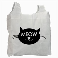 Meow Cat By Divad Brown   Recycle Bag (two Side)   Gjuuecjmsn9q   Www Artscow Com Front