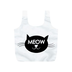Meow Cat By Divad Brown   Full Print Recycle Bag (s)   G5opr53e1mff   Www Artscow Com Front