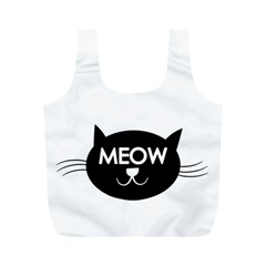 Meow Cat By Divad Brown   Full Print Recycle Bag (m)   Ak7cbdg3ums9   Www Artscow Com Front