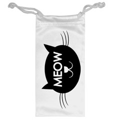 Meow Cat By Divad Brown   Jewelry Bag   Wpd5hcm3e9qs   Www Artscow Com Back