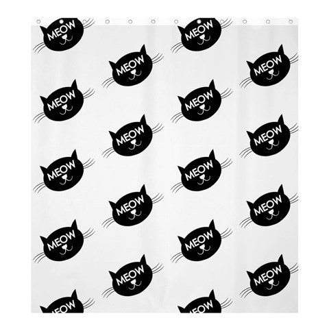 Meow Cat By Divad Brown   Shower Curtain 66  X 72  (large)   3s1os0u6l26h   Www Artscow Com 58.75 x64.8 Curtain