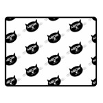 meow cat - Fleece Blanket (Small)