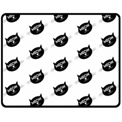 Meow Cat By Divad Brown   Double Sided Fleece Blanket (medium)   Lrkhakdg2bj6   Www Artscow Com 58.8 x47.4 Blanket Back