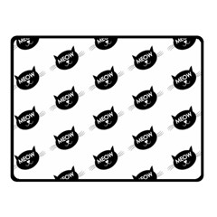 Meow Cat By Divad Brown   Double Sided Fleece Blanket (small)   Kwdmv5xmfopd   Www Artscow Com 50 x40 Blanket Back