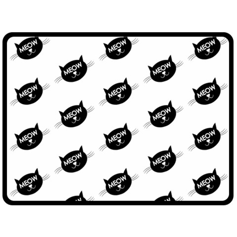 Meow Cat By Divad Brown   Fleece Blanket (large)   H1oyf18qq53v   Www Artscow Com 80 x60 Blanket Front