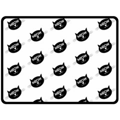Meow Cat By Divad Brown   Double Sided Fleece Blanket (large)   Jgmizm5uua93   Www Artscow Com 80 x60 Blanket Back