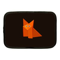 Dark Cute Origami Fox Netbook Sleeve (medium) by CreaturesStore