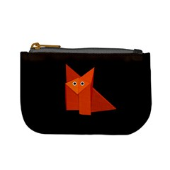 Dark Cute Origami Fox Coin Change Purse