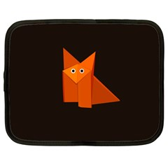 Dark Cute Origami Fox Netbook Sleeve (xxl)