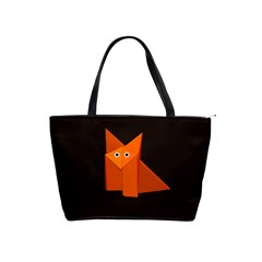 Dark Cute Origami Fox Large Shoulder Bag by CreaturesStore
