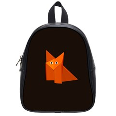 Dark Cute Origami Fox School Bag (small)