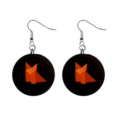 Cute Origami Fox Mini Button Earrings by CreaturesStore