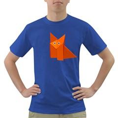 Cute Origami Fox Men s T Shirt (colored)
