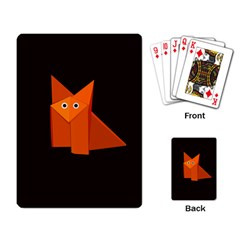 Dark Cute Origami Fox Playing Cards Single Design
