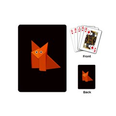 Dark Cute Origami Fox Playing Cards (mini)