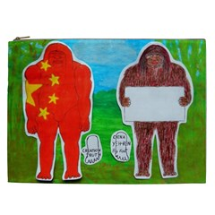 2 Yeh Ren,text & Flag In Forest  Cosmetic Bag (xxl) by creationtruth