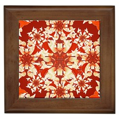 Digital Decorative Ornament Artwork Framed Ceramic Tile by dflcprints