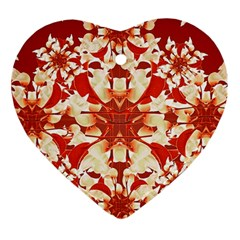 Digital Decorative Ornament Artwork Heart Ornament by dflcprints