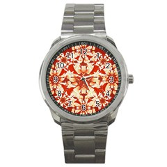 Digital Decorative Ornament Artwork Sport Metal Watch by dflcprints