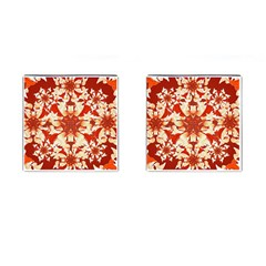 Digital Decorative Ornament Artwork Cufflinks (square) by dflcprints