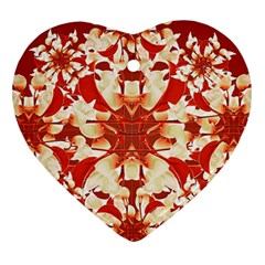 Digital Decorative Ornament Artwork Heart Ornament (two Sides) by dflcprints