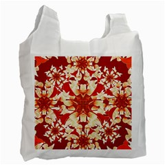 Digital Decorative Ornament Artwork White Reusable Bag (one Side) by dflcprints