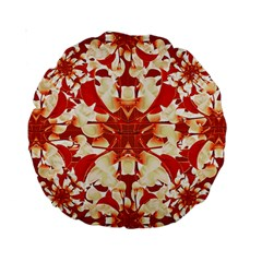 Digital Decorative Ornament Artwork 15  Premium Round Cushion  by dflcprints