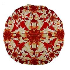 Digital Decorative Ornament Artwork 18  Premium Round Cushion  by dflcprints