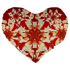 Digital Decorative Ornament Artwork 19  Premium Heart Shape Cushion by dflcprints