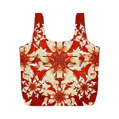 Digital Decorative Ornament Artwork Reusable Bag (m)