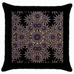 Luxury Ornament Refined Artwork Black Throw Pillow Case by dflcprints