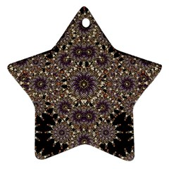 Luxury Ornament Refined Artwork Star Ornament (two Sides) by dflcprints