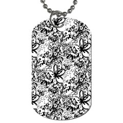 Flower Lace Dog Tag (two Sided)  by rokinronda