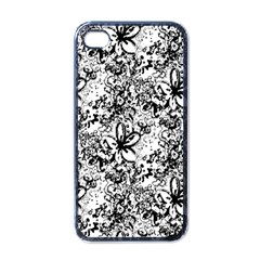 Flower Lace Apple Iphone 4 Case (black) by rokinronda