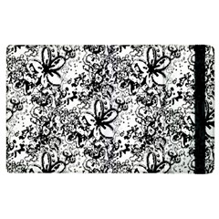 Flower Lace Apple Ipad 3/4 Flip Case by rokinronda