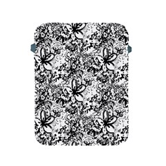Flower Lace Apple Ipad Protective Sleeve by rokinronda