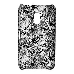 Flower Lace Nokia Lumia 620 Hardshell Case by rokinronda
