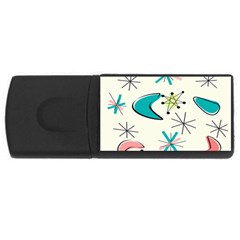 Atomic Era Inspired Usb Flash Drive Rectangular (4 Gb) by GailGabel