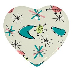 Atomic New 11 Heart Ornament (two Sides) by GailGabel