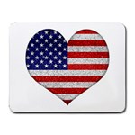 Grunge Heart Shape G8 Flags Small Mouse Pad (Rectangle)