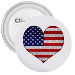 Grunge Heart Shape G8 Flags 3  Button