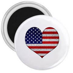 Grunge Heart Shape G8 Flags 3  Button Magnet
