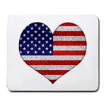 Grunge Heart Shape G8 Flags Large Mouse Pad (Rectangle)