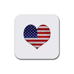 Grunge Heart Shape G8 Flags Drink Coaster (square)