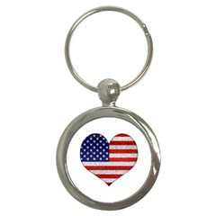 Grunge Heart Shape G8 Flags Key Chain (round) by dflcprints