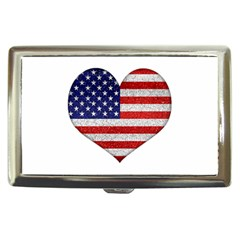 Grunge Heart Shape G8 Flags Cigarette Money Case